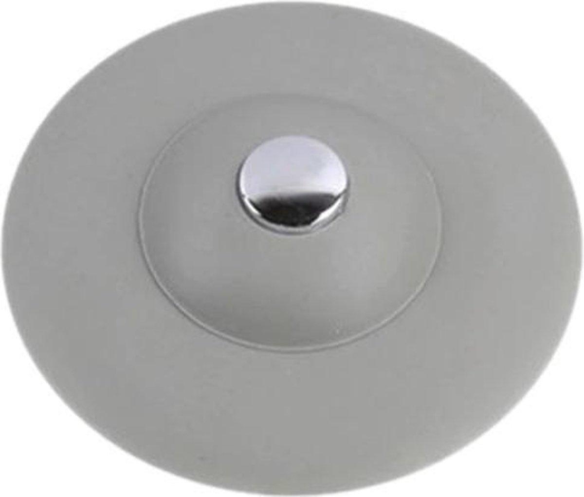 Afvoerstop - Gootsteen Zeef s - Wasbak UFO - Water stopper - Haar vanger - Thermo Plastic Rubber - Grij