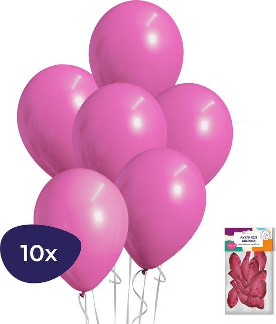 Fuchsia Ballonnen - Roze Ballonnen - Sweet 16 Versiering - Verjaardag Versiering - Helium Ballonnen - 10 stuks