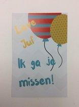 Postkaart cm Lieve Juf Missen