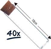40x reageerbuisjes in glas met kurk | 10cm Ø2,5cm | proefbuisje | tube | decoratie | hobby | knutsel | bruidsuiker - doopsuiker - suikerbonen - dragees - bloemen - thee - kruiden - specerijen - cadeauset - geschenkset