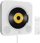 Cloxks – CD-speler Draagbare met Bluetooth – 5 in 1 aan de wand monteerbare CD-speler – inclusief afstandsbediening – Ook geschikt voor kinderen – Wit