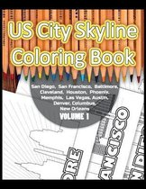 US City Skyline Coloring Book