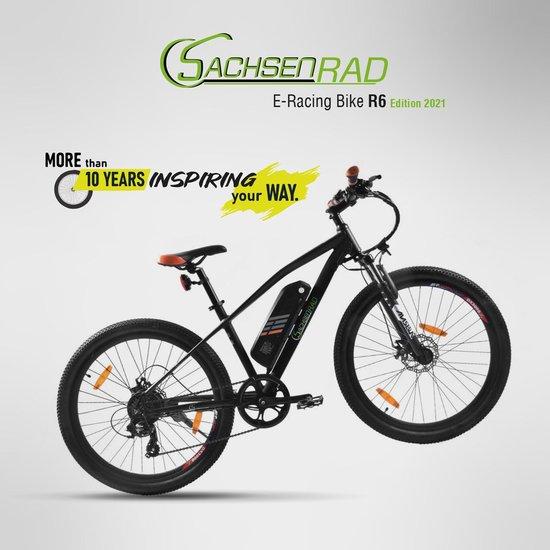 SachsenRad E-Racing Bike Elektrische Fiets R6 - Zwart - 26 Inch