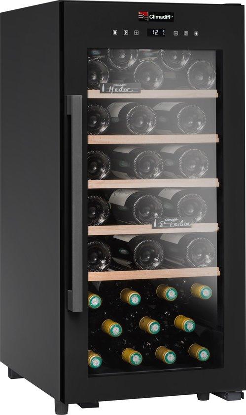 Koelkast: Climadiff CD41B1 - Wijnklimaatkast - 2 zones - 41 flessen, van het merk Climadiff