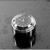 Motor Stuur Horloge Klokje Dark Black Alu