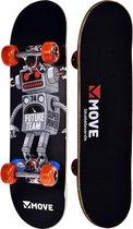 Move SkateboardKinderen - zwart - grijs - rood