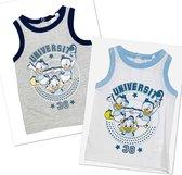 Disney Kwik Kwek en Kwak mouwloos t-shirt / hemd - set van 2 - maat 86 (24 maanden)