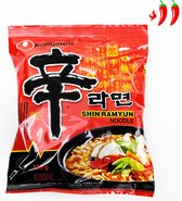 Nongshim Instant Noodle Spicy Shin Ramen - Gourmet Pittige Pikante Koreaan Noedels (120g)