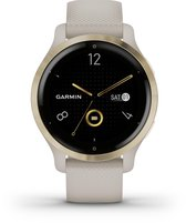 Garmin Venu 2s - Health smartwatch - Tundra/Champagne