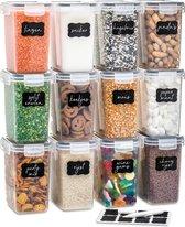 Vershoudbakjes - Meal Prep Bakjes - Diepvriesbakjes - Vershouddoos - Vershoudbakjes Set - Plastic Bakjes  - 12 Stuks - 1.5L  - BPA vrij - Stosh