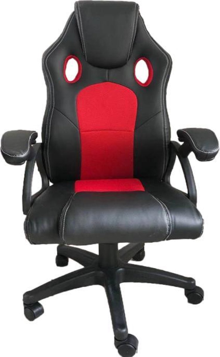 Gamestoel Junior kinderen - bureaustoel - racing gaming stijl - zwart rood