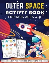 outer space activity book for kids ages 4-8