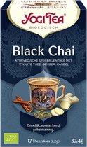 Yogi Tea Black Chai Voordeelverpakking - 6 pakjes van 17 theezakjes