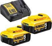 DeWalt 18V Li-Ion XR starterset - DCB115 acculader - 2 x DCB184  5,0 Ah Li-Ion Accu