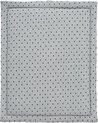 Cottonbaby Boxkleed - driehoekjes - grijs/zwart - 75x95 cm