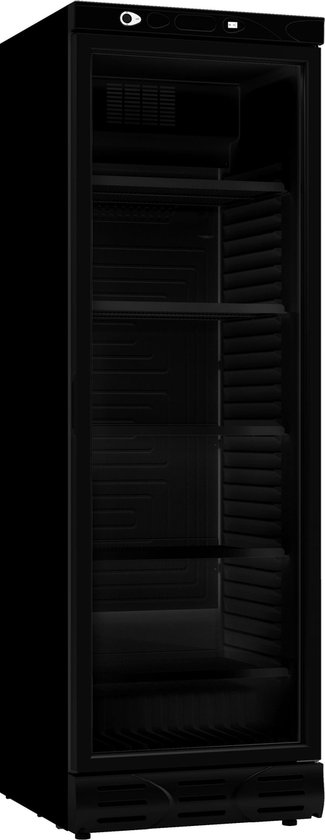 Koelkast: HORECA KOELKAST 1 GLASDEUR 382L ALL BLACK- ZWART ZONDER LICHTBAK, COMBISTEEL | 2021 Model, van het merk Combisteel