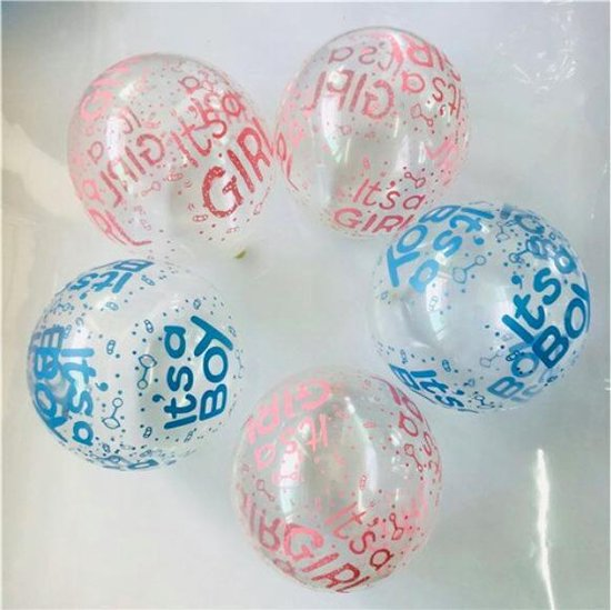 ProductGoods - 10x Gender Reveal Party Ballonnen  -Verjaardag Kinderen - Ballonnen - Ballonnen Verjaardag - Gender Reveal Party - Kinderfeestje