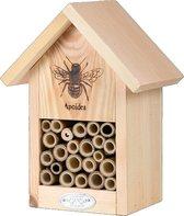 Bijenhuis 16,9 X 22,9 Cm Hout/bamboe Naturel - bijen - insecten - Esschert Design