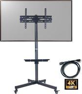 PALMAT® Serie PT4200109 – Mobiele TV Kar – Televisiebeugel - Vloerstandaard – Inclusief Home Display – 32-65 Inch – 600 x 400 mm