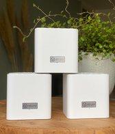 Wifi Cubes - 3 pack - Multiroom wifi router - Mesh wifi systeem - 300m2 wifi bereik - Eenvoudig te installeren - Wifi versterkers - Werkt met app - Ouderlijk toezicht - Dual band 2.4g & 5G - uitbreidbaar