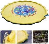 Waterspeelmat Fontein XL - Water speelgoed Baby - Watermat - Mini Zwembad - Geel - 173 cm