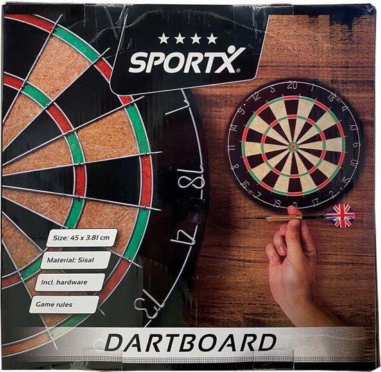 Thumbnail van een extra afbeelding van het spel SportX Dartbord 45 cm Sisal - Speelgoed - Sport en Spel