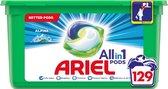 Ariel All-in-1 Pods Alpine Wasmiddel - Voordeelverpakking 3 x 43 Wasbeurten - Wasmiddel Pods