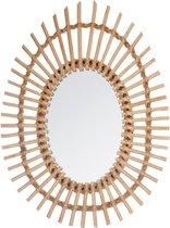 Atmosphera spiegel rotan ovaal - Wandspiegel - 43 x 58 cm