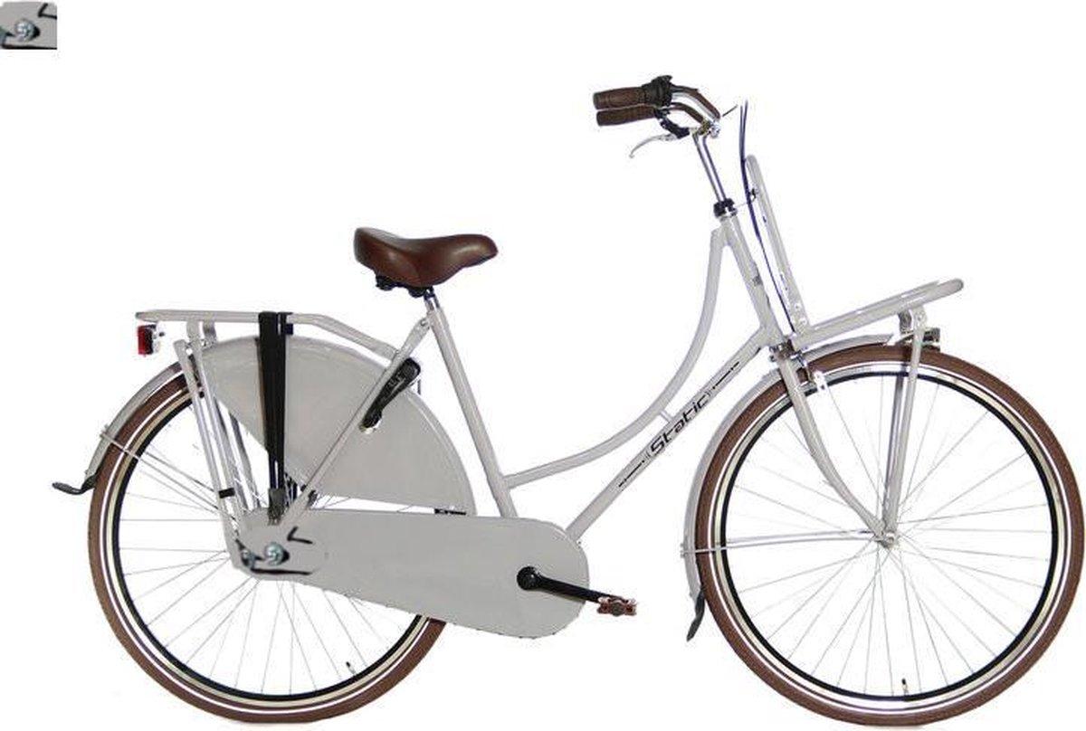 Oma De Luxe 28 inch - Mat Grijs - Dames Transportfiets