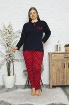 ⭐Derin's Dames Luxe Pyjama | 2-delige Set | Lange Mouwen | Pyjama Dames Volwassenen | Grote Maten Dames | Plus Size | Maat XL