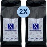 Koffiebonen | Mokka Melange | 2 X 1000 gram | Voordeel Pakket | Barista | Espresso | Cappuccino | Filterkoffie | CoffeeXperts