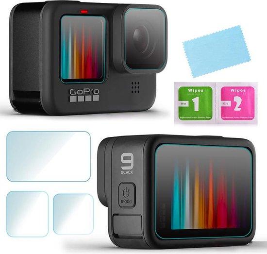Screenprotector voor GoPro Hero 9 & GoPro Hero 10 - Gehard Glas (complete set)