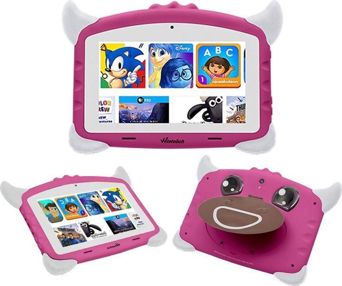 Kindertablet Pro Roze - Tablet 7 inch - 32GB opslag - Kinder tablet - Android 8.1 - vanaf 3 jaar - tablets kinderen - kids tablet - Scherp HD beeld - leerzame voor kinderen - Wifi Bluetooth - voor-achter camera - Play store - uitstekende batterij