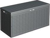 Opbergbox Kussenbox - tuinkist 320 liter - antraciet - 120 x 45 x 60 cm