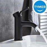 Tymer Kraan Robinet - Kraan - Waterbesparend - Badkamerkraan - wastafelkraan - keukenkraan - zwart