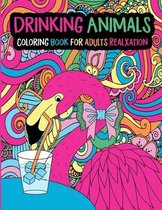 Drinking Animals Coloring Book for Adults Relaxation