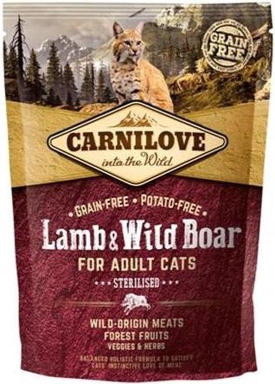 carnilove granenvrij lam & wild zwijn sterilised 6kg