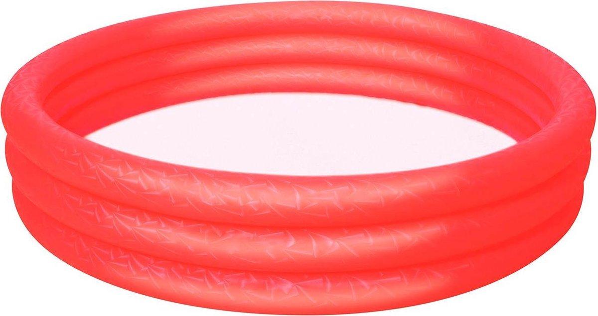 Bestway - Zwembad - 152 x 30 cm - Opblaas - 3 ringen - 282 liter - Rood - Zwembad - Rond