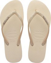 Havaianas Slim Glitter II Dames Slippers - Beige - Maat 37/38