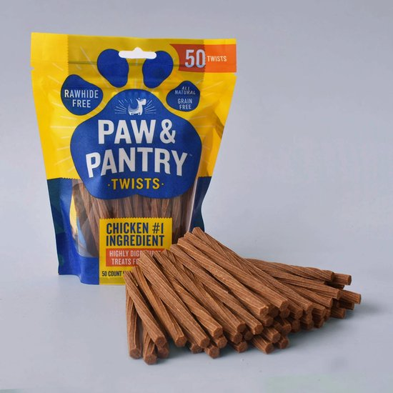 Paw & Pantry - 50 Pack kip sticks 12,5 cm - Hondensnacks - Hondensnacks kip - Hondensnacks gedroogd - Kauwstaaf hond - Honden sticks - Honden kauwstaafjes - Kauwstaaf hond - Huidvrij kip sticks - Honden snacks