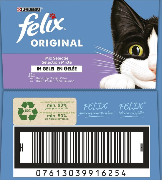 Felix Original Mix Selectie in Gelei - Kattenvoer - 44 x 85g