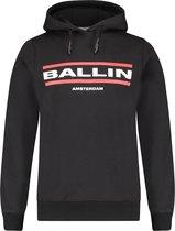 Ballin Amsterdam Kids 2 Lijnen Logo Hoodie - Zwart - Slim fit