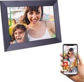 MyCasa - Digitale Fotolijst met WiFi - Frameo App - Fotokader met Audio & Video - 10.1'' Touchscreen - Met Screenprotector - 16GB