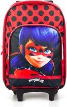 Miraculous Ladybug trolley - rugzaktrolley - koffer 40cm 2in1 - Goede kwaliteit.