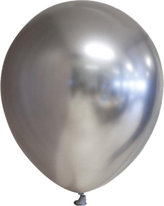 Globos Ballonspiegel Chrome 30 Cm Latex Zilver 10 Stuks