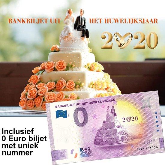 Afbeelding van het spel 0 Euro biljet Nederland 2020 - Bankbiljet uit het huwelijksjaar in cadeauverpakking