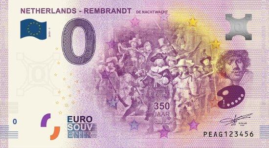 Afbeelding van het spel 0 Euro Biljet 2019 - Rembrandt - De Nachtwacht
