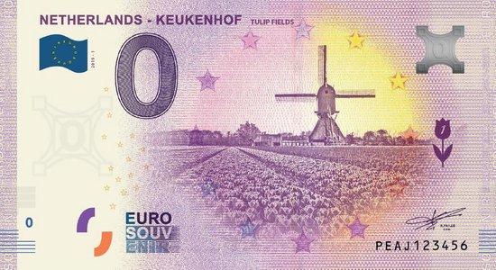 Afbeelding van het spel 0 Euro Biljet 2019 - Keukenhof Tulip Fields