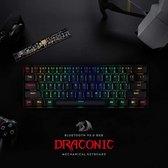 Redragon Draconic K530 RGB Draadloze mechanische Gaming toetsenbord | Brown switch | 60% gaming keyboard 61 toetsen - Bluetooth 5.0 toetsenbord - Compacte toetstenbord | Gaming PC