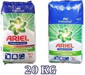 Ariel waspoeder combi Voordeelverpakking | 2 X 10 KG - Ariel Color + Regular Waspoeder | Voor gekleurde en witte was Tot 2x 330kg was ,